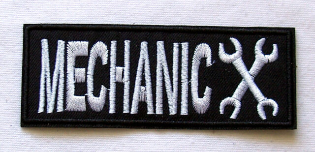 Aufnäher Mechanic Schraubenschlüssel schwarz Zange Patch Ratsche Wrench