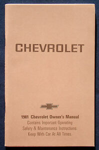 Owner-039-s-Manual-Betriebsanleitung-1981-Chevrolet-Caprice-Impala-USA
