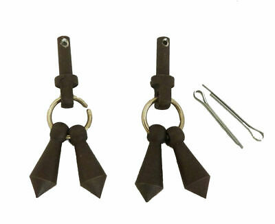 Jingle Bobs for Mens Horse Riding Western Show Spur Parts Black Steel