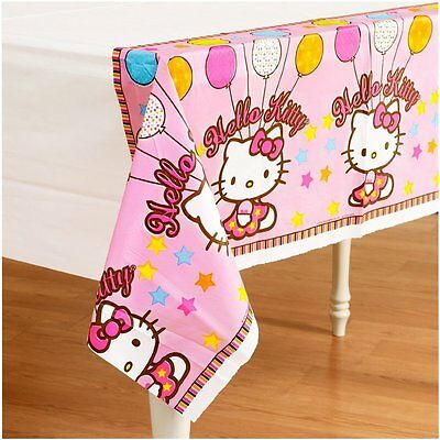 Hello Kitty Balloon Dreams Plastic Table Cover Birthday Party Supply Decoration