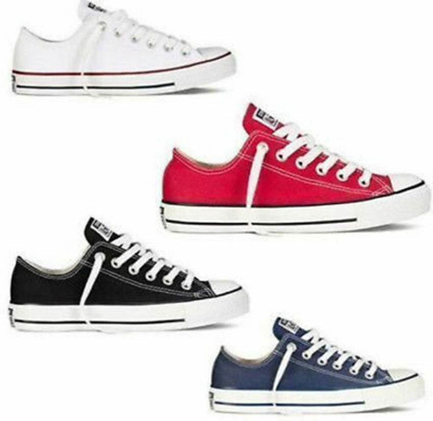 Womens Mens Authentic Classic Athletic Sneakers Low High Top Casual Canvas Shoes 3