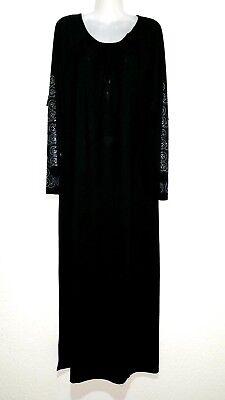 2XL Lila Abaya Maxikleid Kleid Djellaba arabisches Abendkleid Jerseykleid S