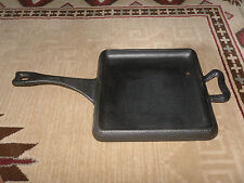 "PAULA DEEN HAMMERED CAST IRON 11"" SQUARE GRIDDLE PAN SKILLET W/HANDLE USED ONCE"