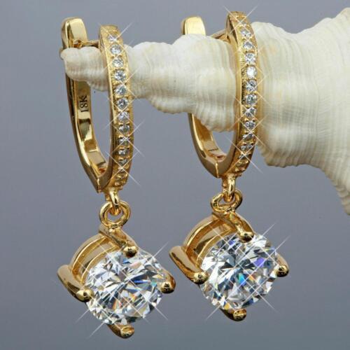 Ohrringe Zirkonia weiss Echt 750er Gold 18Karat vergoldet UVP 75€ O1887
