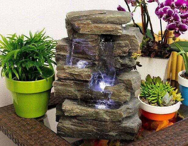 Litetyme Tranquility Celestial Sun Tabletop Water Fountain Indoor Or Outdoor Use For Sale Online Ebay