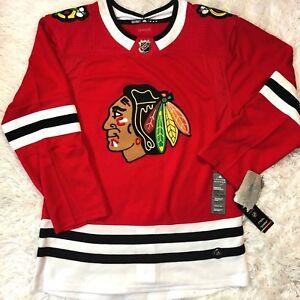6c6c1466aaa NWT Men's Adidas Chicago Blackhawks Authentic Pro Jersey Sz 50 + ...