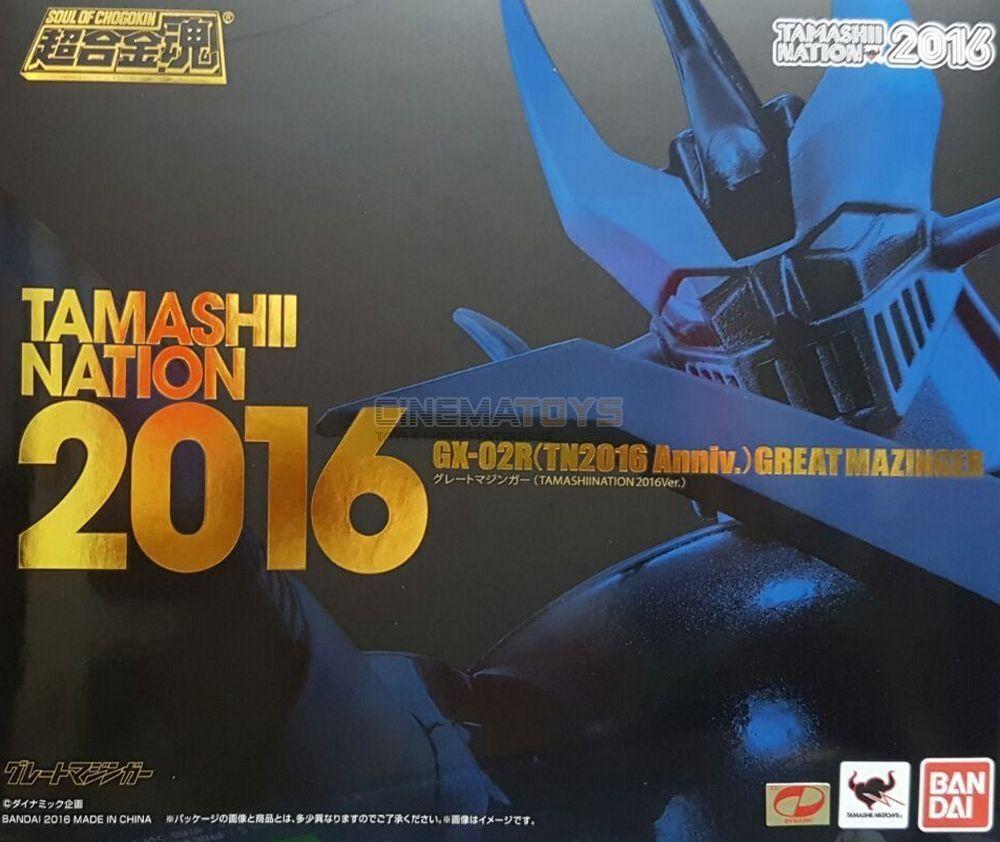 Great Mazinger Gx -02r Tn2016 Annivery Tamashi Nation begränsad Grande Mazinga