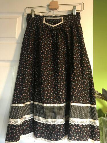Vintage Jessica's Gunnies Midi Prairie Skirt