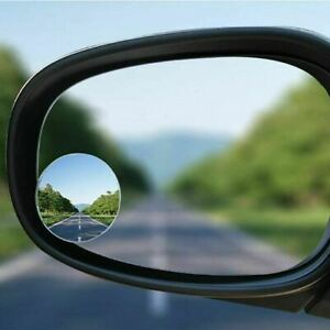 2x Car Van Bikes Convex Blind Spot Mirror Reversing Towing Driving Self Adhesive