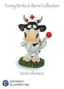 Cow-Berta-Les-Alpes-Funny-World-Collect-infermiera-Resin-014-81504-Cow