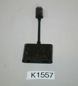 Belkin RockStar 3,5mm-Klinken-Audio- und USB-C-Ladeadapter *defekt* (K1557-R70)