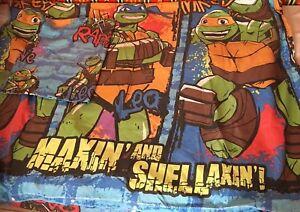 Viacom 2014 Tmnt Teenage Mutant Ninja Turtles Réversible Simple Ensemble De Couette-afficher Le Titre D'origine