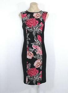 JANE-LAMERTON-Pencil-Dress-Work-Cocktail-Sleeveless-Black-Pink-Grey-Size-12-EUC