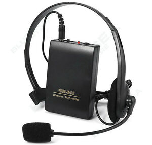 Wireless Microphone Hands-free FM Transmitter Receiver Mic System For Teacher