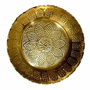 2 Small Brass Bowls Plates Designer Gifts India Collectible Souvenir Home Decor Ebay