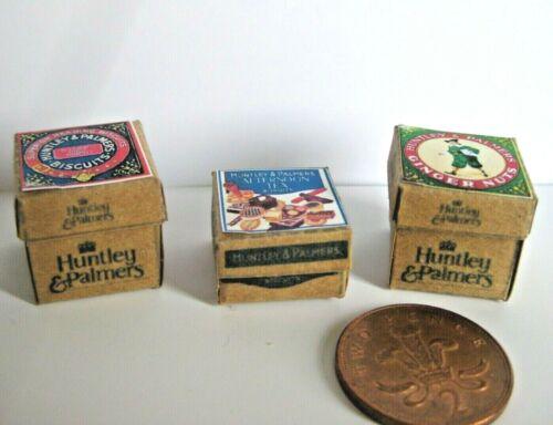 Stock de tienda de estilo vintage cajas de comestibles Casa De Muñecas Miniaturas
