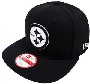 La imagen se está cargando New-Era-Pittsburgh-Steelers-Blanco-y-Negro-Logo- 2e43e1a675b