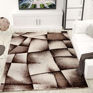alfombra para el salón moderna de diseño abstracto, marrón y beige