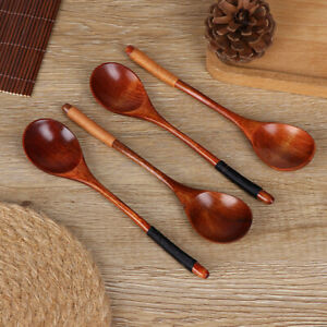 Round-Wooden-Spoon-Cooking-Utensil-Tool-Soup-Teaspoon-Kitchen-Spoon-gadgJB