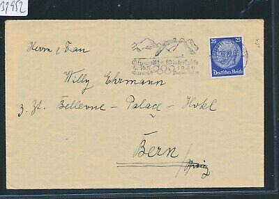 In 2 Brief > Ch Ausgezeichnete QualitäT Werbestempel Garmisch > K1 Fürth bayern 31952 Olympiade 1936