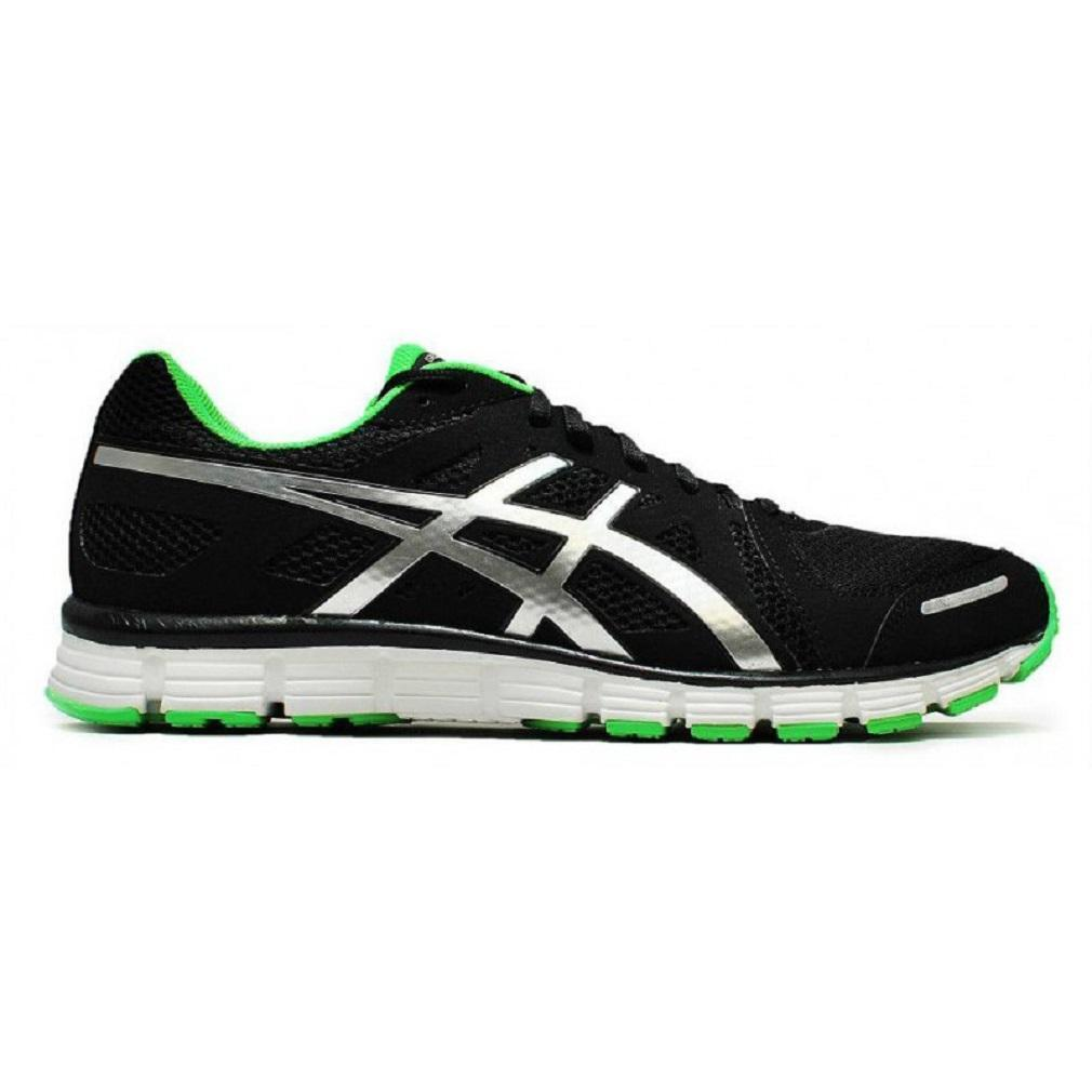 Mens ASICS GEL-ATTRACT Black Road Running Trainers T23RQ 9093 best-selling model of the brand