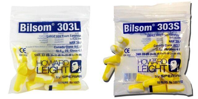 Honeywell 1007192 Howard Leight Bilsom 303l Uncorded Earplugs Size L SNR 33 20 for sale online