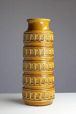 Scheurich Keramik Vase 268-51 Retro 70er Jahre Vintage Honiggelb