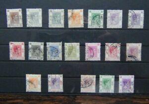 Hong Kong 1938 - 1952 values to $10 Used Cat £115+