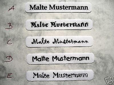 102 Wäscheschilder  Namensschilder Namens Etiketten