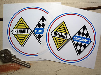 RENAULT Competition racing rally car stickers Gordini