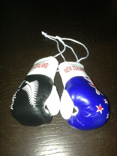 NEW ZEALAND NZ ALL BLACK FLAG Mini Boxing Gloves Ornament BRAND NEW