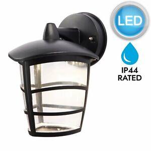 Modern-Black-LED-Outdoor-IP44-Rated-Porch-Garden-Wall-Light-Lantern