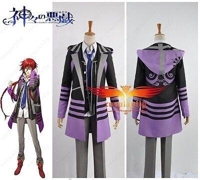 Kamigami no Asobi Thor Brother Loki Laevatein  jacket and vest cosplay costume