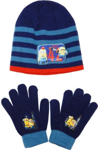 Garçons serviteurs tricot chapeau et gants set taille unique de 3 à 10 ans 780324