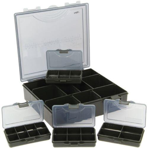 NGT New Carp Fishing 4+1 Black Terminal Tackle Box Storage System Bit Boxes