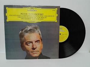 """PETER TCHAIKOVSKY Serenata para cuerda CASCANUECES LP 12"""" Vinilo 1975 HV KARAJAN"""