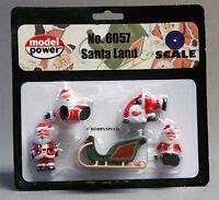 Model Power O Gauge Santa Land Figure Claus Christmas People Train Display 6057