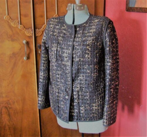 Gold Tweed Black Jacket Tags Nouveau Coat Petit Lafayette 148 W Taille fwCxZA