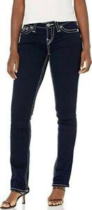 BNWOT TRUE RELIGION Billy BigT low rise straight leg contrast stitch jeans s27