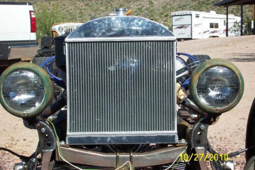 Fit Ford model A chopped w//Chevy engine 1928-1931 1929 Aluminum Radiator Custom