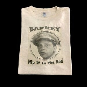 Andy Griffith Show Barney Fife NIP IT IN THE BUD Adult T-Shirt All Sizes