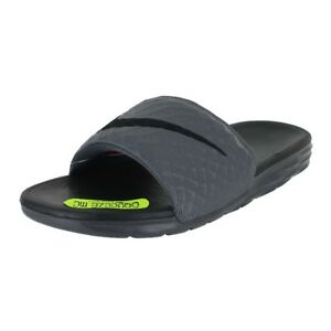 b968b505c Image is loading NIKE-BENASSI-SOLARSOFT-DARK-GREY-BLACK-705474-090-