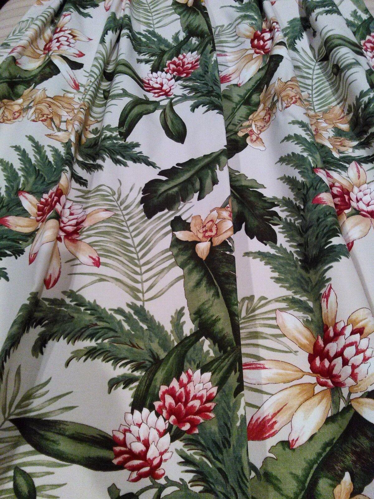 Calidad de panel personalizado Cortinas Modelo 27 x95  Palmas Floral Tropical casa una