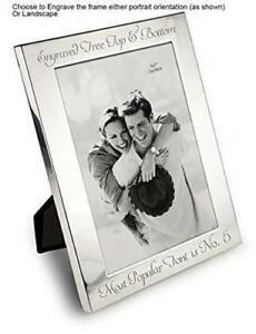 Personalised-6-034-X-4-034-Silver-Photo-Frame-Can-Be-Engraved