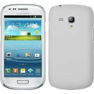 Coque-Rigide-Samsung-Galaxy-S3-Mini-gommee-blanc-films-de-protection