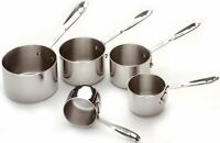 All-clad 59917 Stainless Steel 5-piece Measuring Cups / Cookware, Silver , New, on sale