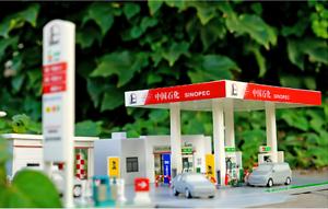 1 64 modellololo di assemblaggio DIY A set di Sinopec,Shell,ENEOS,GULF,set di scena della stazione di gas