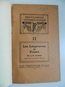 Planet Louis-Marie Histoire Naturale Delle Longicornes Di Francia Chevalier 1924