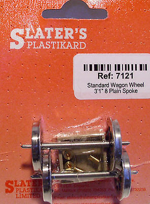 Intellective Slaters 7121 1 X Pair Plain Spoked Wagon Wheels & Brass Bearings Kit '0' Gauge T Cool In Summer And Warm In Winter Model Railroads & Trains
