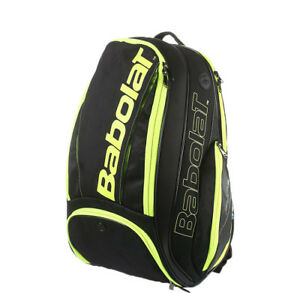 Babolat-Pure-Aero-Tennis-Backpack-Bag-Yellow-Black-Racket-Racquet-NWT-753047